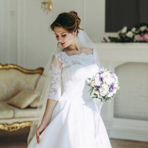 причёска для невесты минск на дом